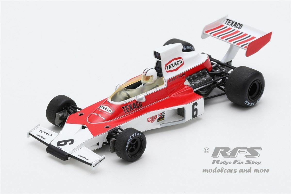 McLaren m23 Ford Denis Hulme Formule 1 Argentine 1974 1 43 Spark 7146 NEUF