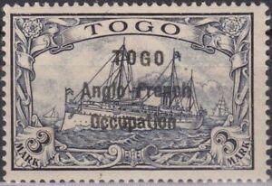 GERMANY-KOLONIEN-TOGO-Britische-Bes-Mi-12-Pr-28000-Signed