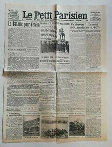 N958-La-Une-Du-Journal-Le-Petit-Parisien-25-Fevrier-1916-bataille-de-Verdun