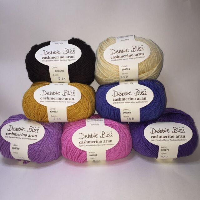 Wool Cashmere 10 x 50g Sea Green Debbie Bliss Cashmerino Aran Tonals
