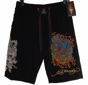 New-Men-039-s-Ed-Hardy-Shorts-Beach-Lounge-Sleep-Pyjama-Christian-Audigier-RRP-89