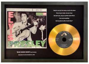 ELVIS PRESLEY 'BLUE SUEDE SHOES' SIGNED GOLD DISC COLLECTABLE GIFT MEMORABILIA | eBay