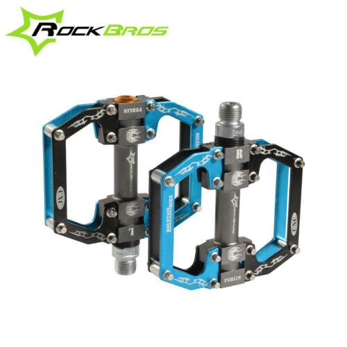 "RockBros MTB Flat Pedals Light Aluminum Alloy Platform Sealed Bearing Axle 9//16/"""