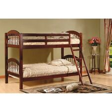 Cherry Finish Bunk Beds Bunkbeds Solid Wood Set Bed Wooden Bedroom Bunkbed