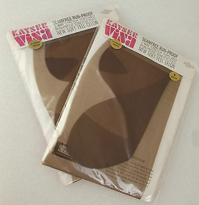 2 pair Vintage nylon stockings size 9 Kayser Seam free CELON boxed MADRID MOOD