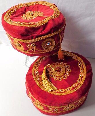 Red smoking hat tassel NEW cap Size S M L XL 2XL 3XL unusual present for men
