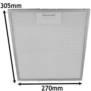 305 x 270mm, Pack of 2 SPARES2GO Metal Mesh Cooker Hood Extractor Vent Grease Filter for Rangecookers Oven
