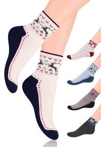 68b22fd65b2e3 Chaussettes sport coton femme bouclette motifs Norvégien Steven 35 ...