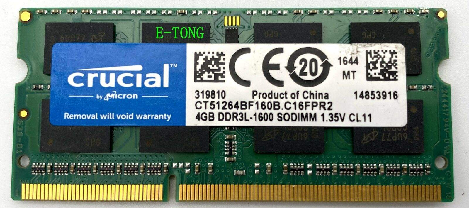 FMB-I Compatible with 3X41T Replacement for Dell DIMM 2GB 1600 1RX16 4G DDR3L