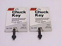 Lot Of 2 Arco Tools 1/4 Drill Chuck Key No. 1559