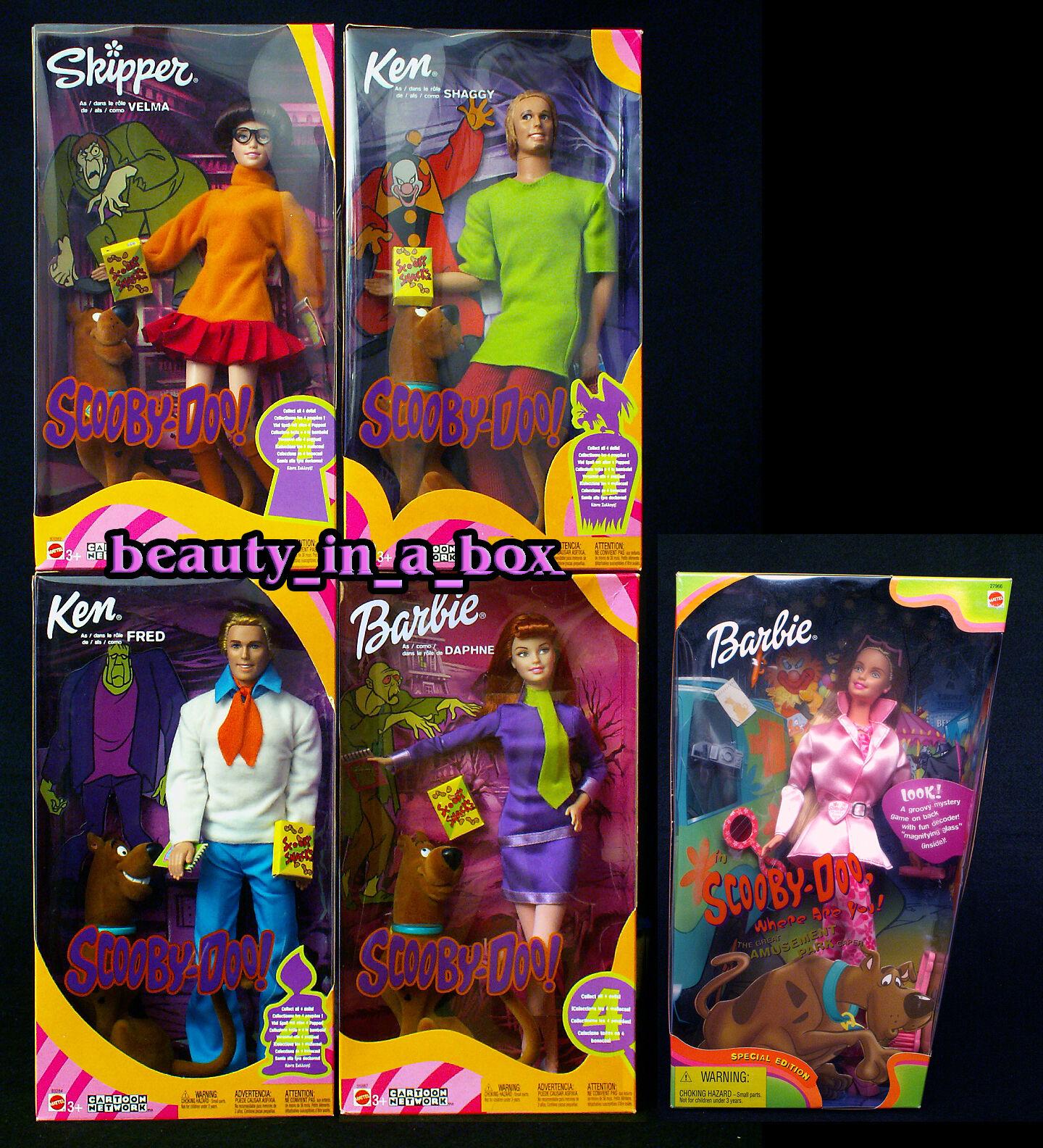 Scooby Doo Muñeca Barbie  Muy Bueno Caja Daphne Frojo Shaggy Velma Dibujos Animados Lote 5 4