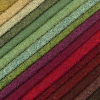 Woolfelt ~ 22cm x 90cm ~ Valley shades wool blend felt fabric grey heathered