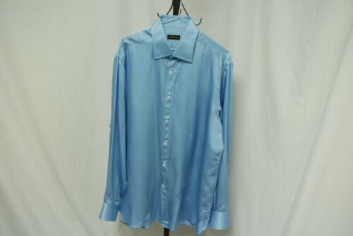 ALEX MOCCIOLA men's silk shirt baby blue long slee