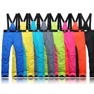 Mens-Womens-Warm-Ski-Pants-Snow-Winter-Waterproof-Snowboarding-Trousers-Outdoor
