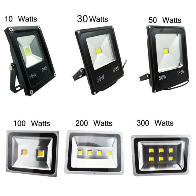 10//30//50//100//200//300W LED Floodlight PIR Sensor Motion Security Light Warm Cool