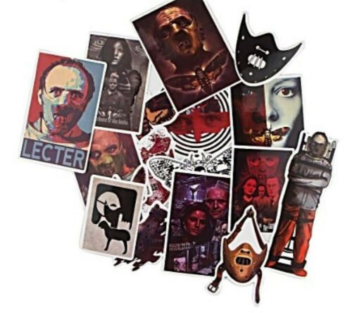 Hannibal Lecter Themed Decal Vinyl Stickers Assorted Lot of 15 Pieces
