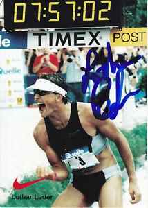Lothar LEDER - Deutschland, Silber WM 1994 Triathlon, Original-Autogramm!