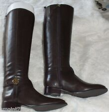 5284042f8705c9 Auth Tory Burch Bristol 30mm Riding BOOTS Equestrian Calf Coconut Size 7