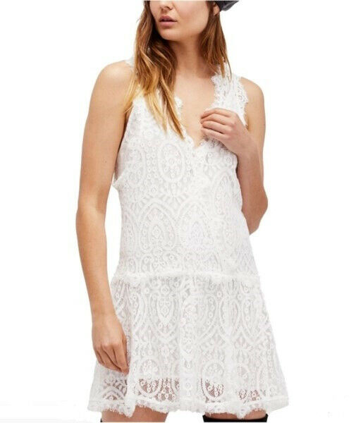 Free People Womens Heart In Two OB676649 Dress Relaxed Ivory White Size XS