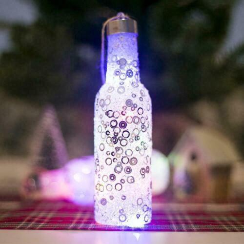 Kreative Lichtflaschen Weihnachtsbaum Dekoration Anhänger Weihnachten Z2H2