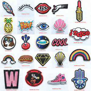 Sew-Iron-On-Patch-Cloth-Bag-Embroidery-Applique-Stickers-Fabric-Badges-Patches