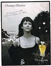 PUBLICITE ADVERTISING 094  1996  CHAMPS ELYSEES SOPHIE MARCEAU  DE GUERLAIN parf