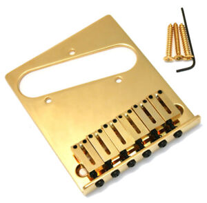 Genuine-Fender-American-Standard-Series-6-selle-Tele-Telecaster-Bridge-Gold