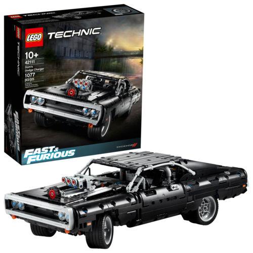 107 LEGO Technic Fast /& Furious Dom's Dodge Charger 42111 Race Car Building Set