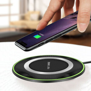 Qi-Fast-Wireless-Charger-10W-Charging-Pad-For-iPhone-Samsung-S10-Huawei-P30-Pro