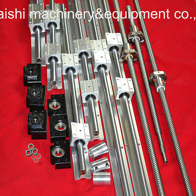 3 ballscrews ballscrew + 3set SBR rails +3sets BK/BF12+3 couplings