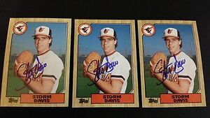 Storm-Davis-Orioles-1987-Topps-349-Tigers-Signed-Authentic-Autograph-JA15
