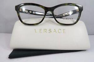 009ae365de8c Versace Women s Green Tortoise Glasses with case MOD 3225 5183 54mm ...