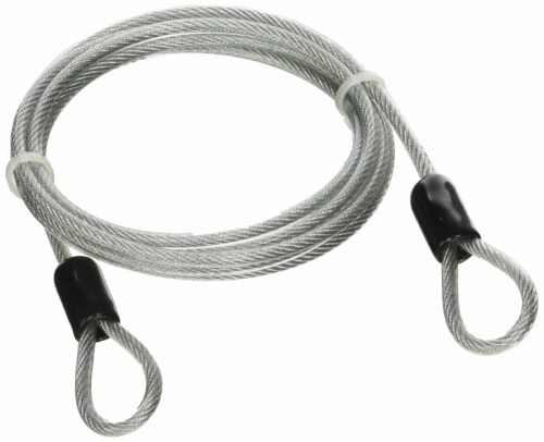 Lumintrail 4 Foot 3mm Braided Steel Coated Security Cable Luggage Lock Safety ..