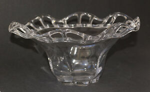 Duncan-Miller-Clear-Glass-Bowl-with-Crocheted-Open-Lace-Ruffled-Edge-Canterbury