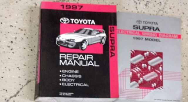 1997 Toyota Supra Service Repair Shop Workshop Manual Oem