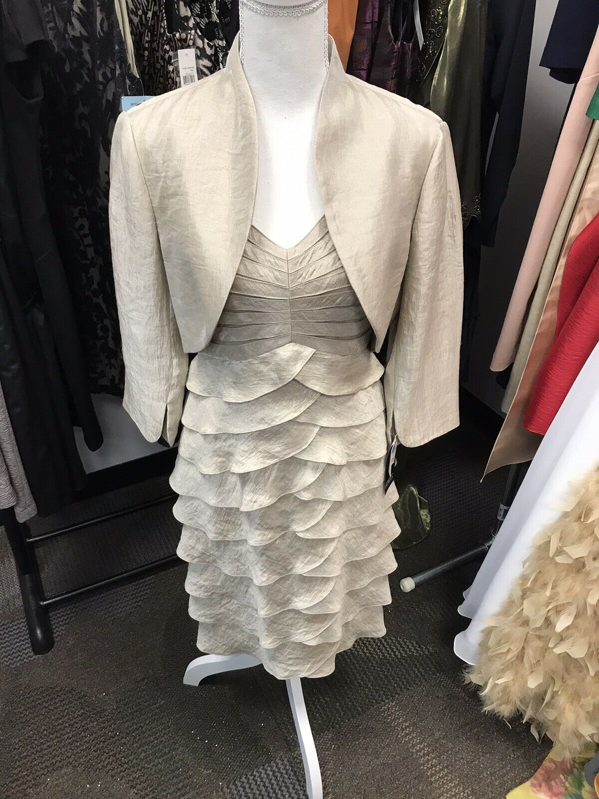 Adrianna Papell Mother Of The Bride/Groom 2 Piece Jacket Formal Dress Size 8