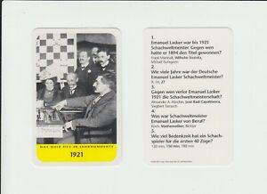 Chess : Emanuel Lasker : attractive German collector card