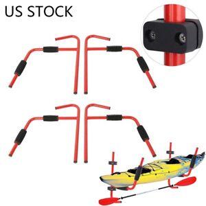 Details about  /1//2 Pairs Kayak Ladder Wall Mount Storage Rack Surfboard Canoe Folding Hanger