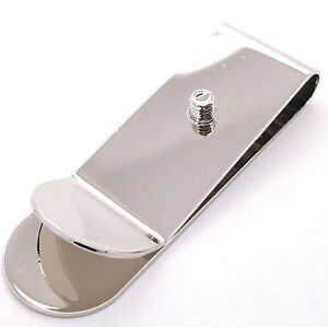 Money Clip with Concho Screw Nickel Plated 1242-02 by Stecksstore