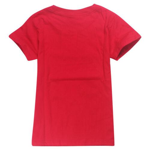 New Roblox Kids Fashion Leisure Cartoon Short Sleeve Tops tshirts Cotton Clothes