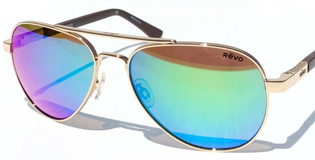 28d06c1836 Buy New  REVO Raconteur Aviator Gold Polarized Green Water Sunglass 1011 04  GN online
