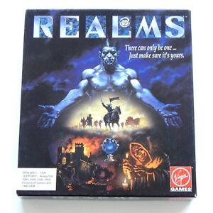 REALMS-Vintage-VIdeo-Game-1992-Rare-Amiga-Computer-PC-3-5-034-Disk-Virgin-Games-D-amp-D