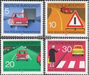 BRD-BR-Deutschland-670-673-kompl-Ausgabe-postfrisch-1971-Strassenverkehr