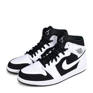 044b9c091e0e Nike Air Jordan 1 Mid Tuxedo White Black 554724-113 Men s Size 11-13 ...