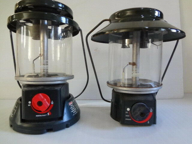 COLEMAN  DUAL MANTLE PROPANE LANTERN LOT OF 2  your satisfaction is our target