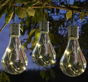 Amazing Image Is Loading 6 Solar Powered Hanging Light Bulbs Solar Garden