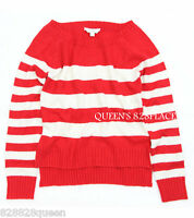 77kids American Eagle Girls Size 12 Red Beige Striped Sweater Pullover