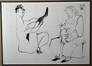 PABLO-PICASSO-1954-ENGRAVING-w-COA-exclusive-UNIQUE-sexy-GIFT-of-VERY-RARE-ART