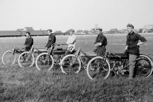 Flying Merkel motorcycle line up 1911 Manitoba motorcycle photo photograph