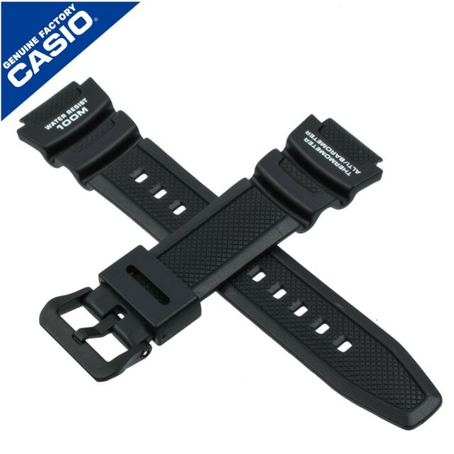Genuine Casio Watch Strap Band for SGW-300H SGW-400H SGW 300 400 400H 300H BLACK